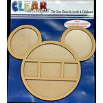 Clear Scraps - 12 x 12 Printer Tray - Mouse Circle