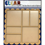 Clear Scraps - 12 x 12 Printer Tray - Scallop Square
