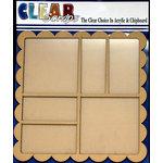 Clear Scraps - 12 x 12 Printer Tray - Scallop Square