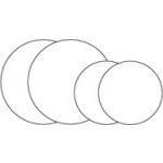 Clear Scraps - Clear Album Embellishments - Circles