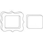 Clear Scraps - Clear Album Embellishments - Decorative Frame, CLEARANCE