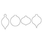 Clear Scraps - Clear Acrylic Shapes - Christmas Ornaments, CLEARANCE