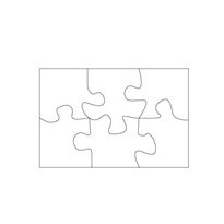 Clear Scraps - Clear Pieces - Puzzle Pieces, CLEARANCE