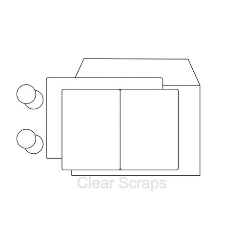 Clear Scraps - Send it Clear - Acrylic Card with Envelope - Rectangle