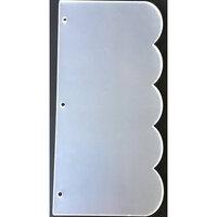 Clear Scraps - Acrylic Album - Slimline - 5.5 x 11 - Scallop