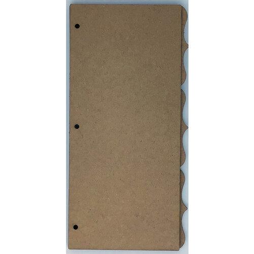 Clear Scraps - Chipboard Album - Slimline - 5.5 x 11 - Deco