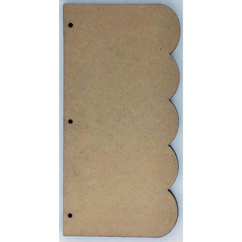 Clear Scraps - Chipboard Album - Slimline - 5.5 x 11 - Scallop