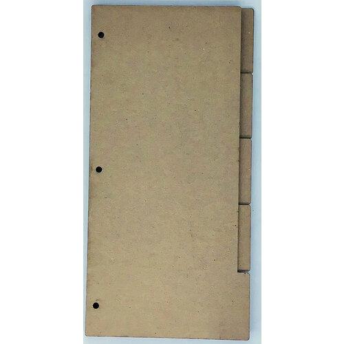 Clear Scraps - Chipboard Album - Slimline - 5.5 x 11 - Tabbed