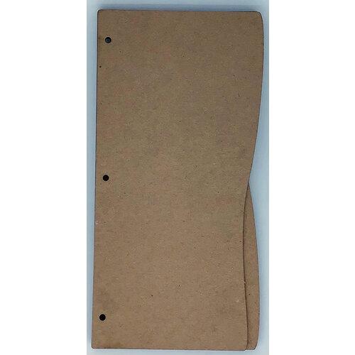 Clear Scraps - Chipboard Album - Slimline - 5 x 11 - Wave