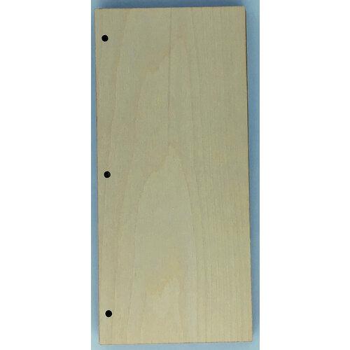 Clear Scraps - Birch Wood Album - Slimline - 5 x 11 - Regular