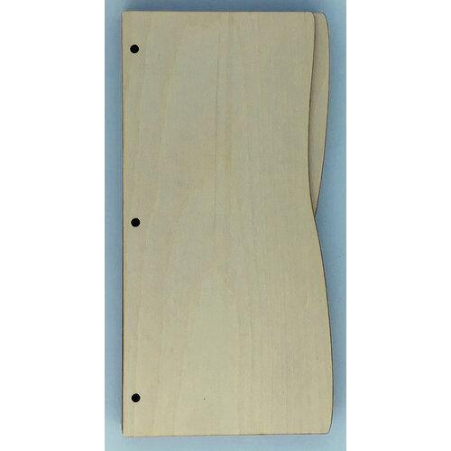 Clear Scraps - Birch Wood Album - Slimline - 5 x 11 - Wave