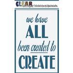 Clear Scraps - Mascils - 4 x 6 Masking Stencil - All Created