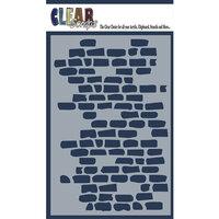 Clear Scraps - Mascils - 4 x 6 Masking Stencil - Brick Wall