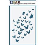 Clear Scarps - Mascils - 4 x 6 Masking Stencil - Butterfly Flock