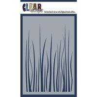 Clear Scraps - Mascils - 4 x 6 Masking Stencil - Grass
