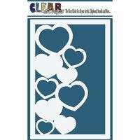 Clear Scraps - Mascils - 4 x 6 Masking Stencil - Hearts