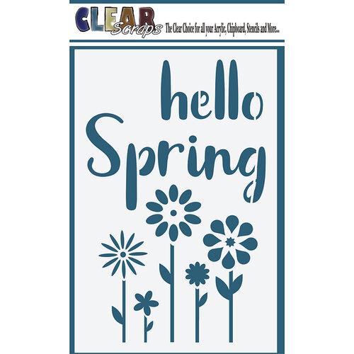 Clear Scraps - Mascils - 4 x 6 Masking Stencil - Hello Spring