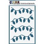 Clear Scraps- Christmas - Mascils - 4 x 6 Masking Stencil - Lights