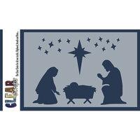 Clear Scraps - Christmas - Mascils - 4 x 6 Masking Stencil - Nativity