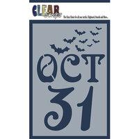 Clear Scraps - Halloween - Mascils - 4 x 6 Masking Stencil - Oct 31