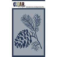 Clear Scraps - Mascils - 4 x 6 Masking Stencil - Pine Cone