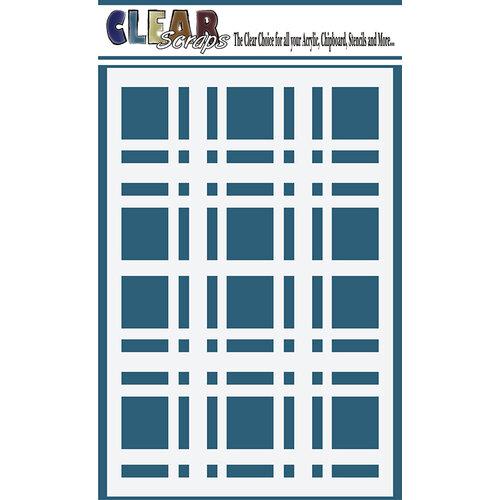 Clear Scraps - Mascils - 4 x 6 Masking Stencil - Plaid