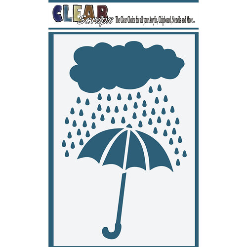 Clear Scraps - Mascils - 4 x 6 Masking Stencil - Rainy Days