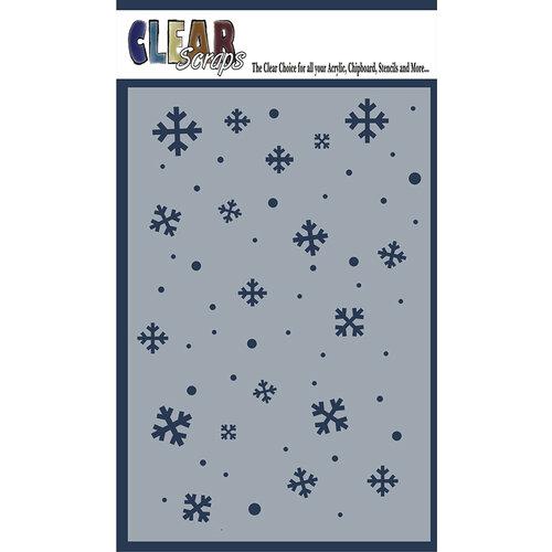 Clear Scraps - Mascils - 4 x 6 Masking Stencil - Snowflakes