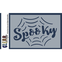 Clear Scraps - Halloween - Mascils - 4 x 6 Masking Stencil - Spooky