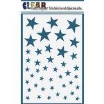 Clear Scraps - Mascils - 4 x 6 Masking Stencil - Stars