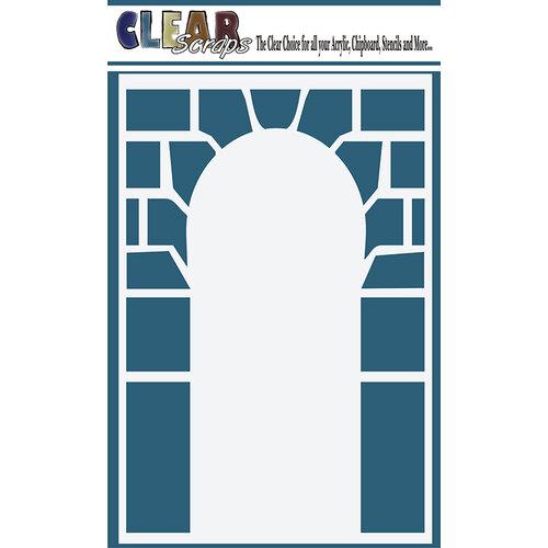 Clear Scraps - Mascils - 4 x 6 Masking Stencil - Stone Arch