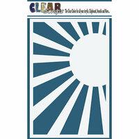 Clear Scraps - Mascils - 4 x 6 Masking Stencil - Sun Rise