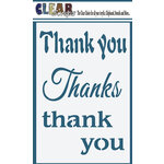 Clear Scraps - Mascils - 4 x 6 Masking Stencil - Thank You