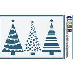 Clear Scraps - Mascils - 4 x 6 Masking Stencil - Christmas Tree