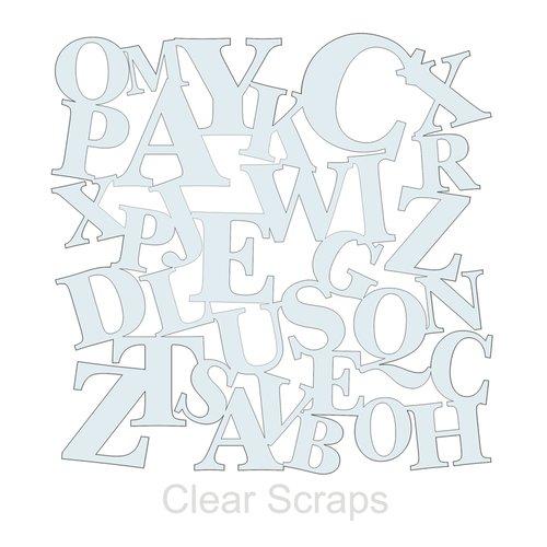 Clear Scraps - Mascils - 12 x 12 Masking Stencil - ABC's