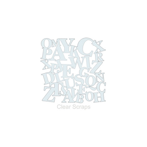 Clear Scraps - Mascils - 6 x 6 Masking Stencil - ABC's