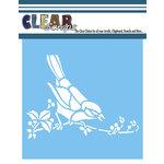 Clear Scraps - Mascils - 12 x 12 Masking Stencil - Bird on a Branch