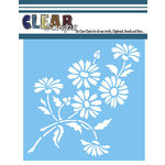 Clear Scraps - Mascils - 12 x 12 Masking Stencil - Bouquet of Daisies