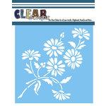 Clear Scraps - Mascils - 6 x 6 Masking Stencil - Bouquet of Daisies