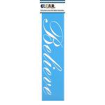 Clear Scraps - Mascils - Border Masking Stencil - Believe