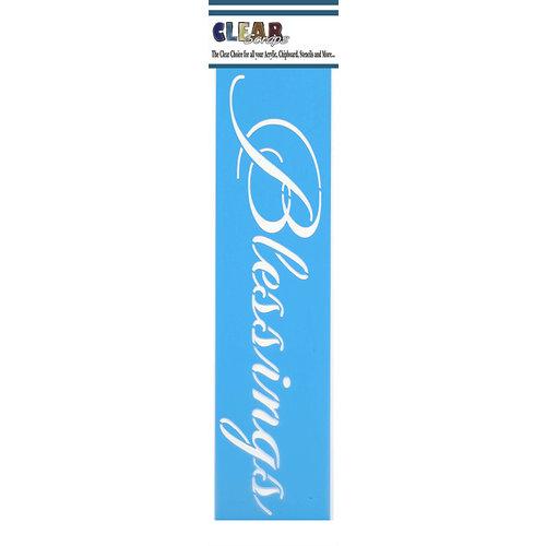 Clear Scraps - Mascils - Border Masking Stencil - Blessings