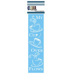 Clear Scraps - Mascils - Border Masking Stencil - Cup Over Flow