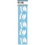 Clear Scraps - Mascils - Border Masking Stencil - Graduate Hats