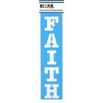 Clear Scraps - Mascils - Border Masking Stencil - Faith