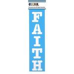 Clear Scraps - Mascils - Border Masking Stencil - Faith