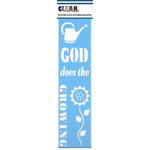 Clear Scraps - Mascils - Border Masking Stencil - God Does the Growing