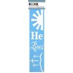Clear Scraps - Mascils - Border Masking Stencil - He Lives