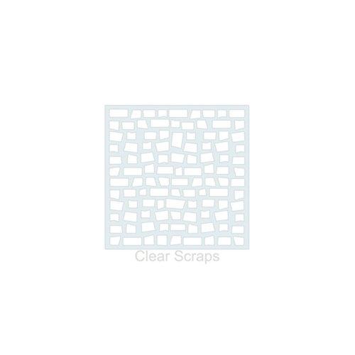 Clear Scraps - Mascils - 6 x 6 Masking Stencil - Brick