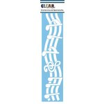 Clear Scraps - Mascils - Border Masking Stencil - Music Notes