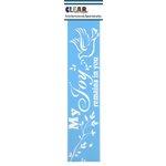Clear Scraps - Mascils - Border Masking Stencil - My Joy